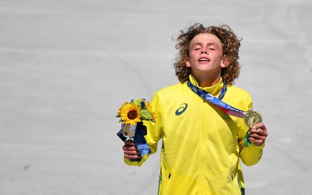 도쿄올림픽 스케이트보드 남자 파크 종목 우승자 키건 파머. / 사진=AFP