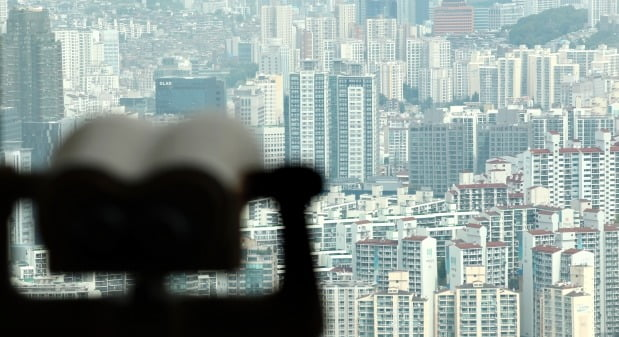 서울 영등포구 63스퀘어에서 바라본 서울 시내 아파트 단지. /연합뉴스