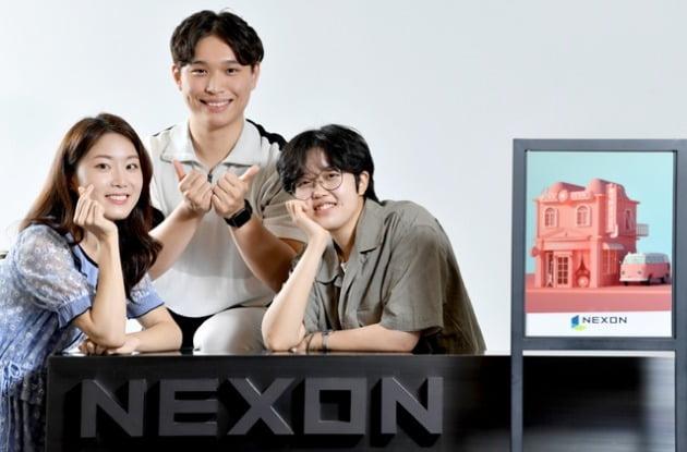 왼쪽부터 넥슨코리아 서지수·박근희, 넥슨네트웍스 허정원 씨. 사진=김기남 기자