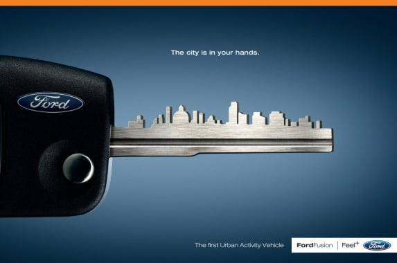 포드 이탈리아의 신문광고 '열쇠' 편 (2008)