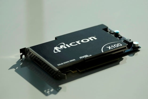 마이크론 SSD 제품. 연합뉴스