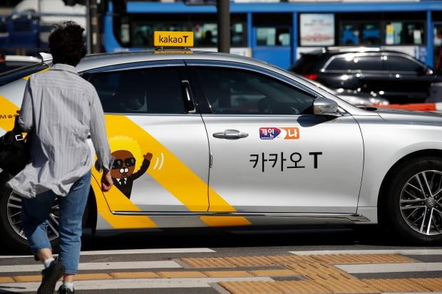 서울 시내의 카카오T 택시 [사진=뉴스1]