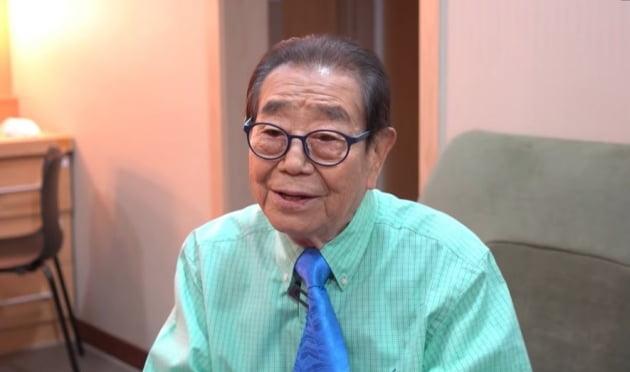 국민 MC 송해가 최근 근황을 전했다. /사진=유튜브 채널 '근황올림픽' 캡쳐