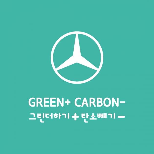메르세데스-벤츠 그린플러스 그린더하기 탄소빼기 SNS 캠페인. 사진=벤츠코리아
