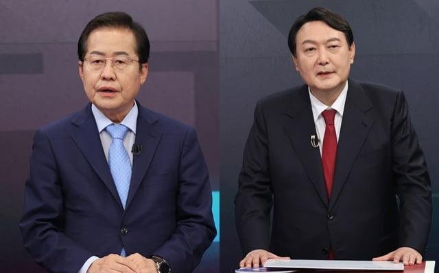 국민의힘 대권 주자 홍준표 후보, 윤석열 후보. / 사진=연합뉴스