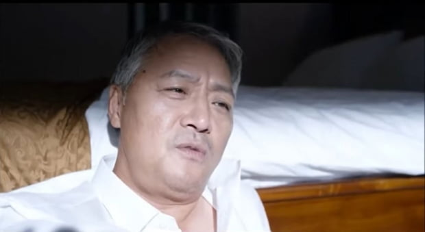 영화 내부자들 속 장필우. 유튜브 캡처