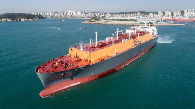 현대중공업이 건조한 17만4000m³급 LNG운반선. 한국조선해양 제공