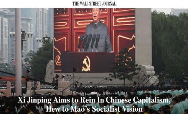"WSJ ""중국 기업 강력 통제하는 시진핑, 진짜 원하는 건…"""