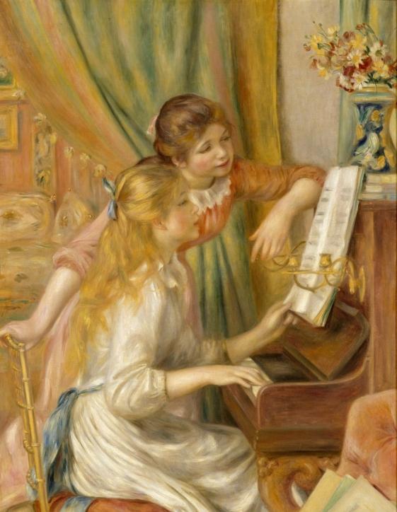 피아노 치는 소녀들, 1892, 오르세미술관
