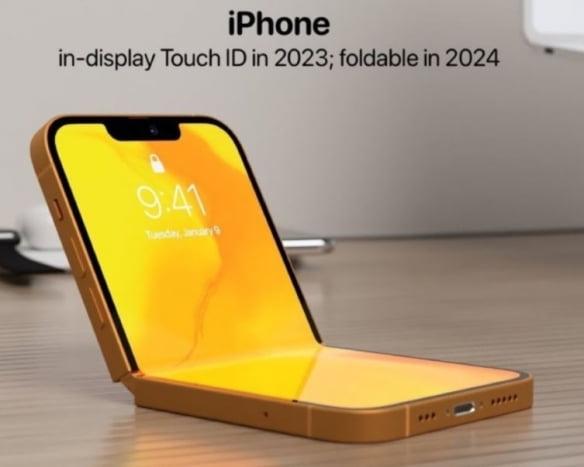 애플 폴더블 아이폰 컨셉 이미지 [출처=애플허브 트위터]