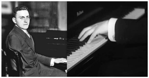 제1차 세계대전에 참전해 오른팔을 잃은 오스트리아의 피아니스트 파울 비트겐슈타인(Paul Wittgenstein)의 생전 모습. 사진 출처=한경DB(왼쪽), 영국 BBC 홈페이지(오른쪽)