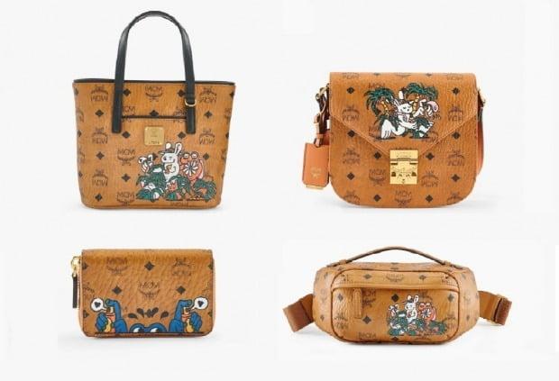 패션잡화 브랜드 MCM은 이달 업사이클링프로젝트의 일환으로 프랑스 아티스트 '아카 보쿠(Aka Boku)'와 협업한 컬렉션을 선보였다. [사진=MCM 제공]