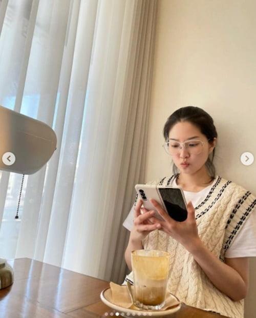 '전진♥' 류이서, 민낯에 안경 착용해도 청초한 미모 [TEN★]