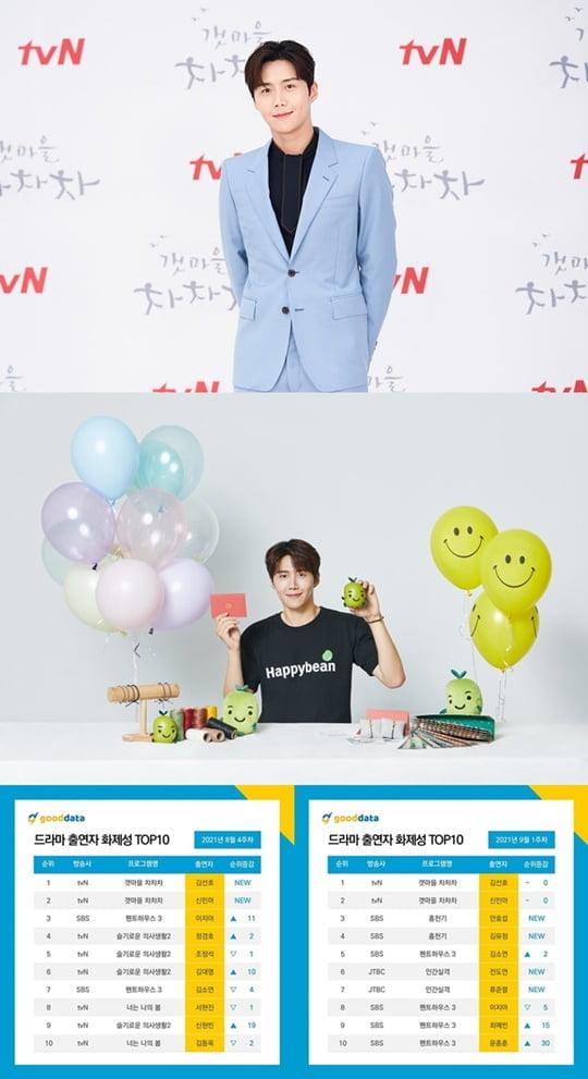 (사진=tvN, 해피빈, 굿데이터코퍼레이션)