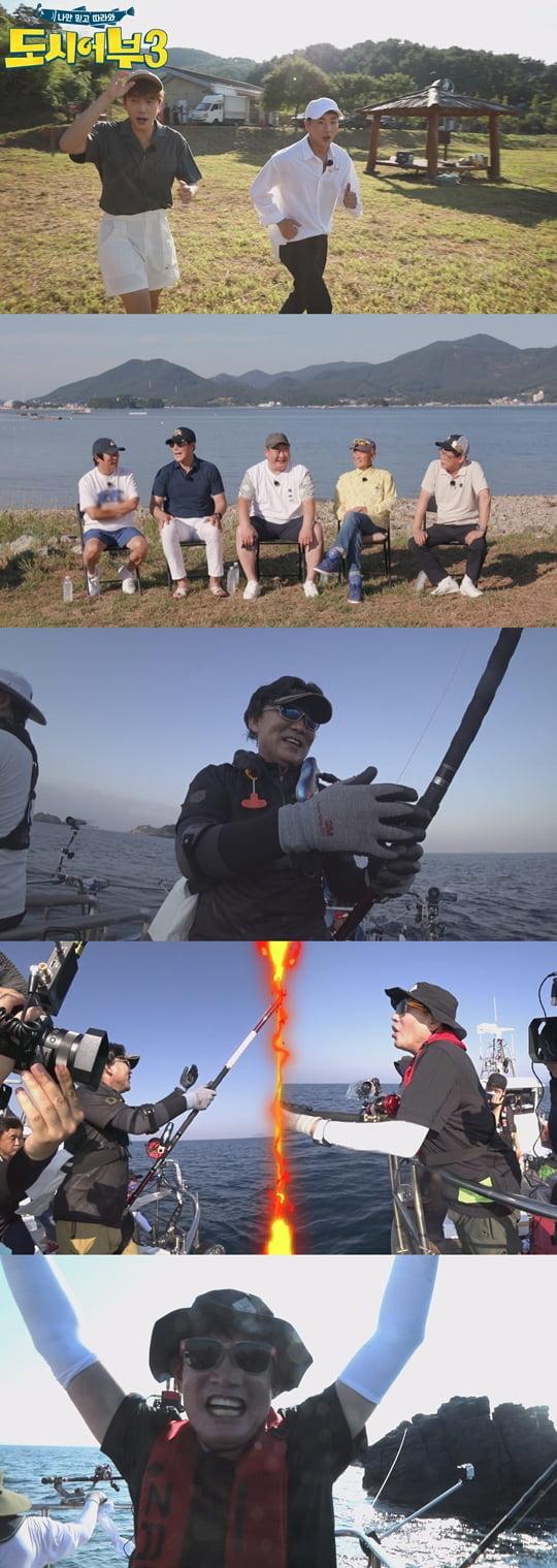 박군X우영X박진철, 통영에서 펼쳐지는 5짜 돌돔과의 전쟁 ('도시어부3')