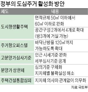 '집값 잡기' 다급한 정부…非아파트 규제 푼다