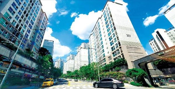 거래절벽이 이어지면서 실수요자의 '갈아타기'도 힘들어졌다. 대표적인 직주근접 아파트로 꼽히는 서울 마포구 아현동 '마포래미안푸르지오' 일대.   /한경DB