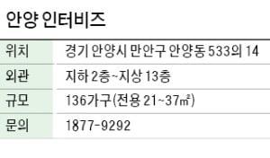 안양 인터비즈, 명학역 도보 1분…신개념 '오피스홈'