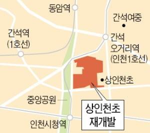 인천 '상인천초 주변 재개발' 2568가구 내년 착공