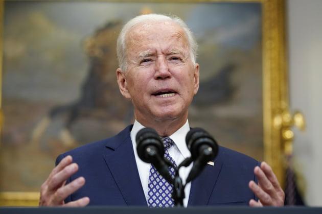 조 바이든 미국 대통령이 지난 8월 31일 백악관에서 대국민연설을 하고 있다. 출처: 연합뉴스