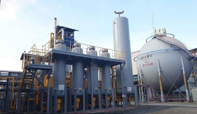 포스코 포항제철소 수소생산설비. 출처: 포스코