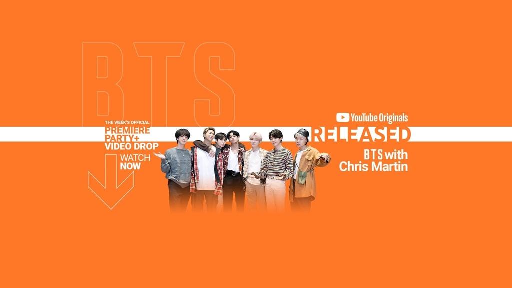 BTS, '협업설' 콜드플레이 크리스 마틴과 유튜브 뮤직쇼 출연
