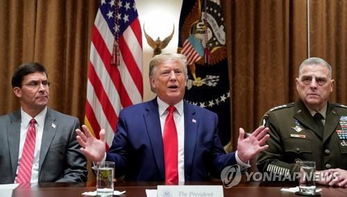 """미 국방장관도 대선전 중국에 """"공격의도 없다"""" 진정 노력"""