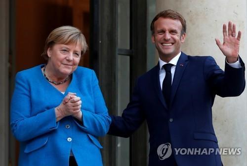 """마크롱·메르켈 """"독일 새 정부 구성까지 긴밀하게 협력"""""""