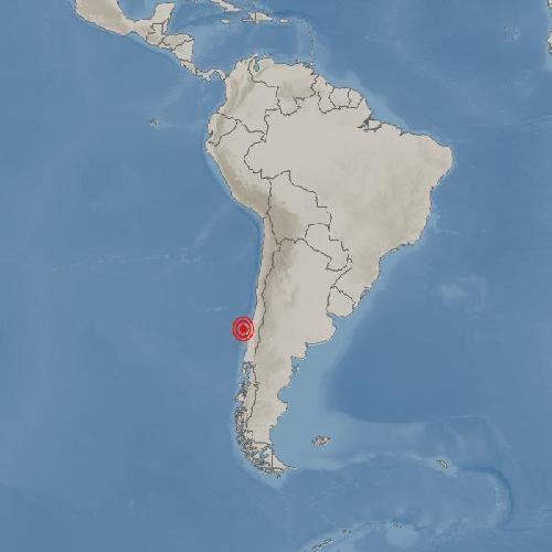 칠레 비오비오주 콘셉시온 서쪽서 규모 6.4 지진