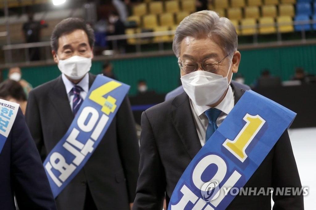 이재명, 전북서 득표율 54% 압승…이낙연 38%
