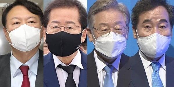 """""""이재명 30.0% 윤석열 27.1%""""…보수 후보 윤-홍 접전"""
