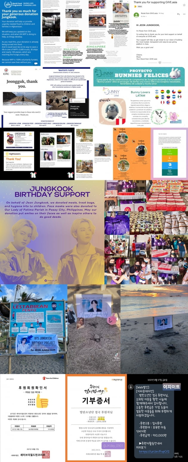 방탄소년단 정국 생일 맞이 '기부·나눔' 행렬 아프가니스탄 돕기→바다거북 4000마리 방류