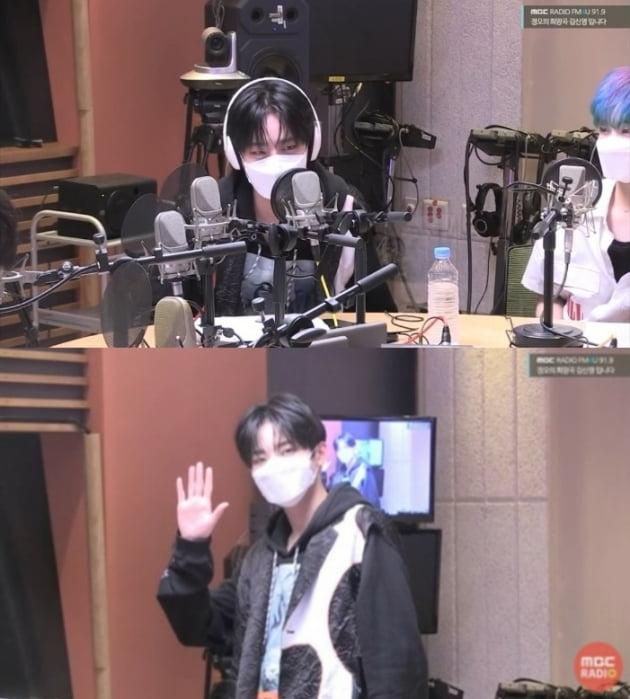 """방탄소년단 뷔 찐팬 크래비티 정모 , """"굿즈 다 모아... 뷔 선배님 만나고 싶어요"""""""