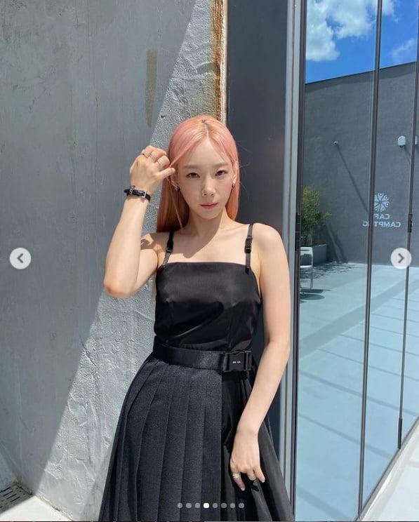 태연, 우아한 블랙 스완...유퀴즈 촬영일[TEN★]