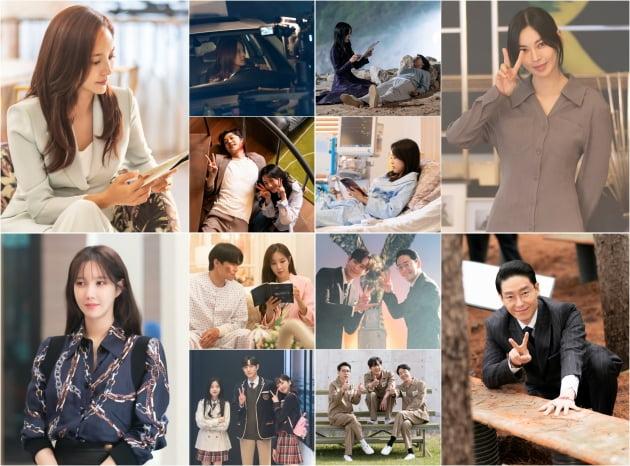 '펜트하우스3' 비하인드/ 사진=SBS 제공