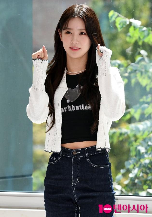 [TEN 포토] 여자아이들 미연 '웹드라마 '딜리버리' 파이팅!''