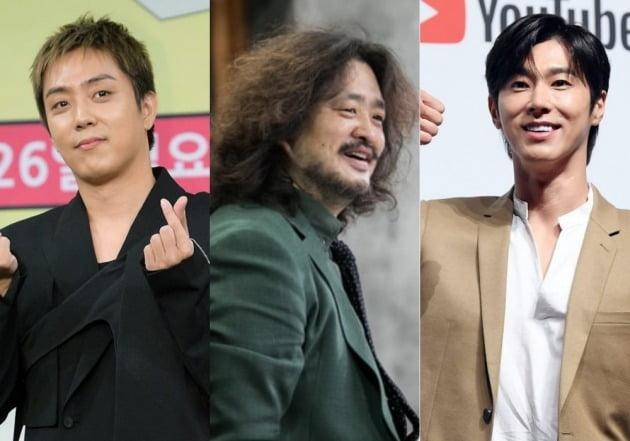 은지원(왼쪽), 김어준, 유노윤호./사진=TBS 제공, 텐아시아 DB