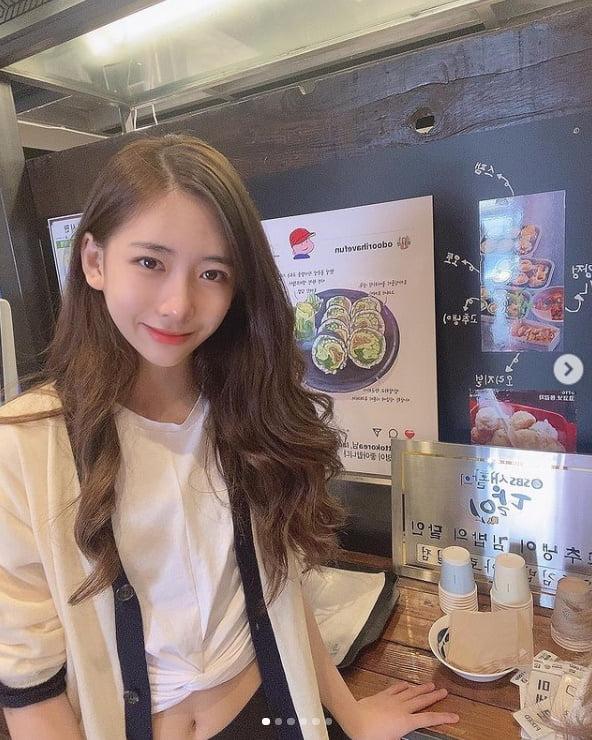 박찬민 딸 박민하, 완벽한 청순미모...크롭티에 개미허리[TEN★]