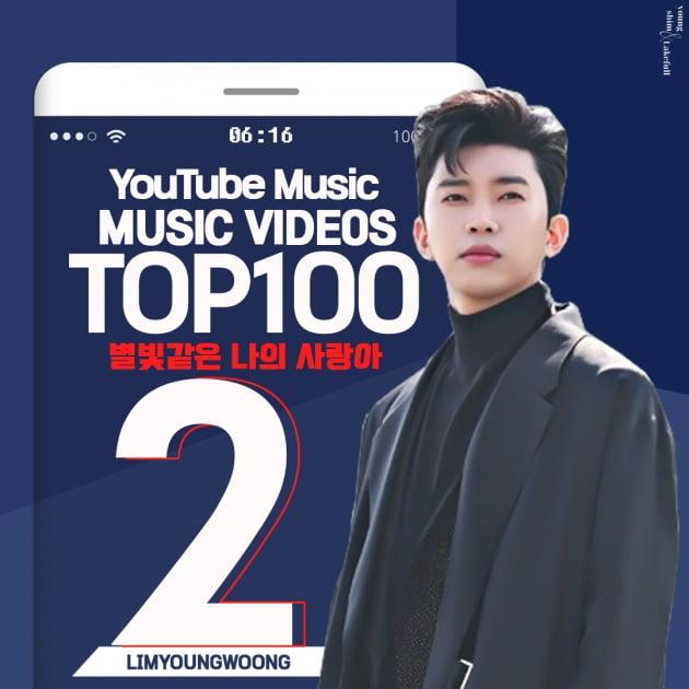 '10억 가수' 임영웅, '별나사' MV 유튜브 TOP2…3주 연속 기록