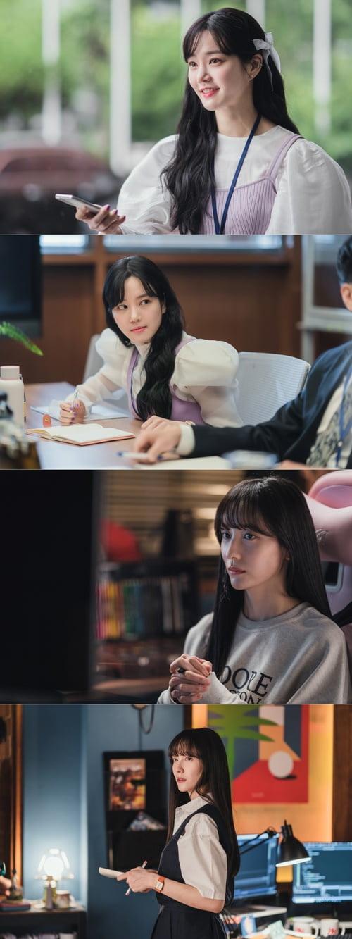 '유미의 세포들' 이유비(위), 박지현/ 사진=티빙 제공