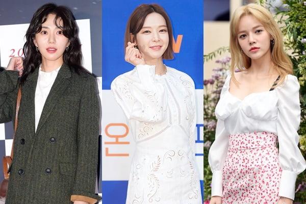 전 AOA 권민아(왼쪽부터), 초아, 지민/ 사진=tvN, 텐아시아DB