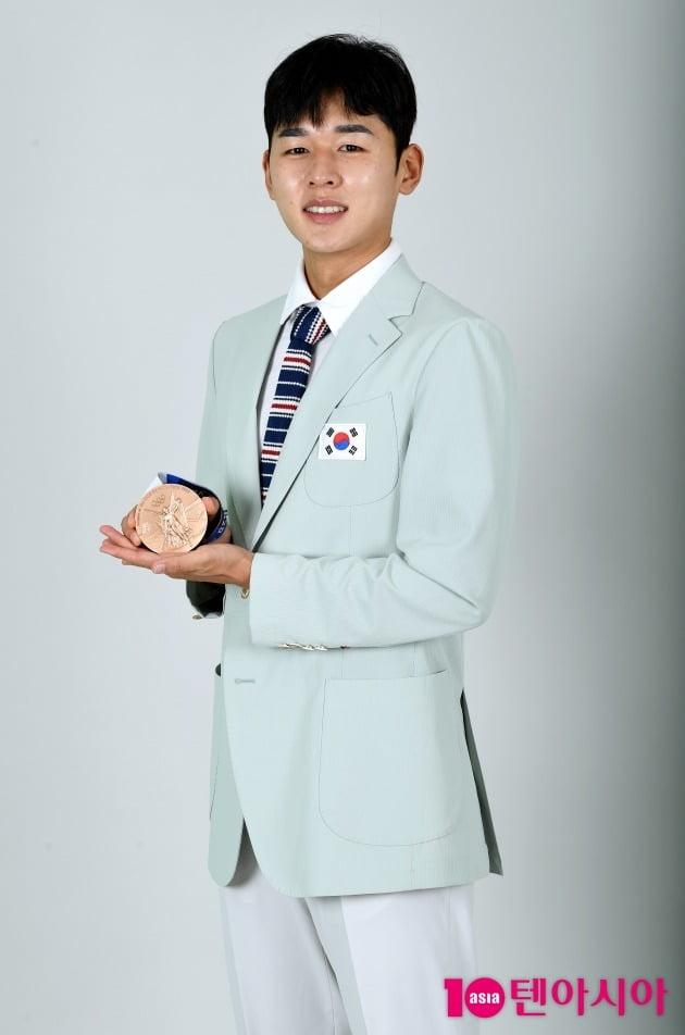 한국 사상 최초의 근대5종 남자 개인 메달리스트 전웅태 선수./사진=조준원 기자