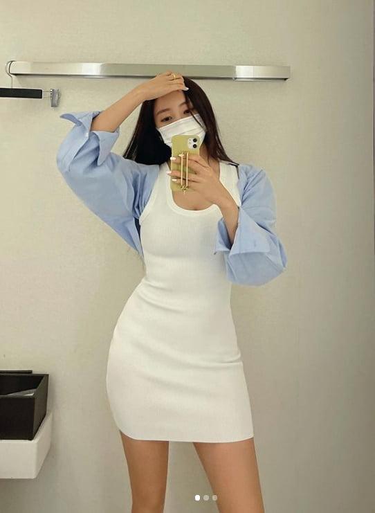 티아라 효민, 의류브랜드 CEO 일상...탄력몸매 과시[TEN★]