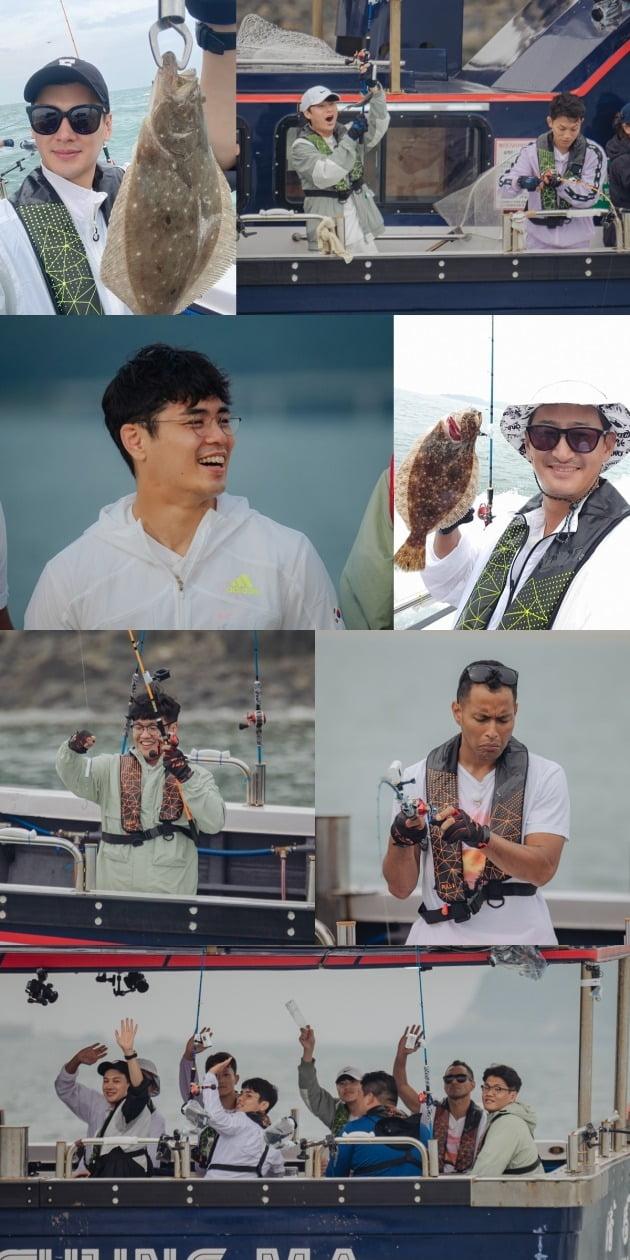 '노는브로2'의 브로들이 유도 국가대표들과 바다 낚시를 즐긴다. / 사진제공=티캐스트 E채널