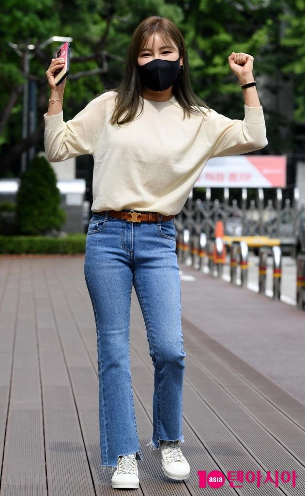 [TEN 포토] 송가인 '자가격리후...건강합니다'