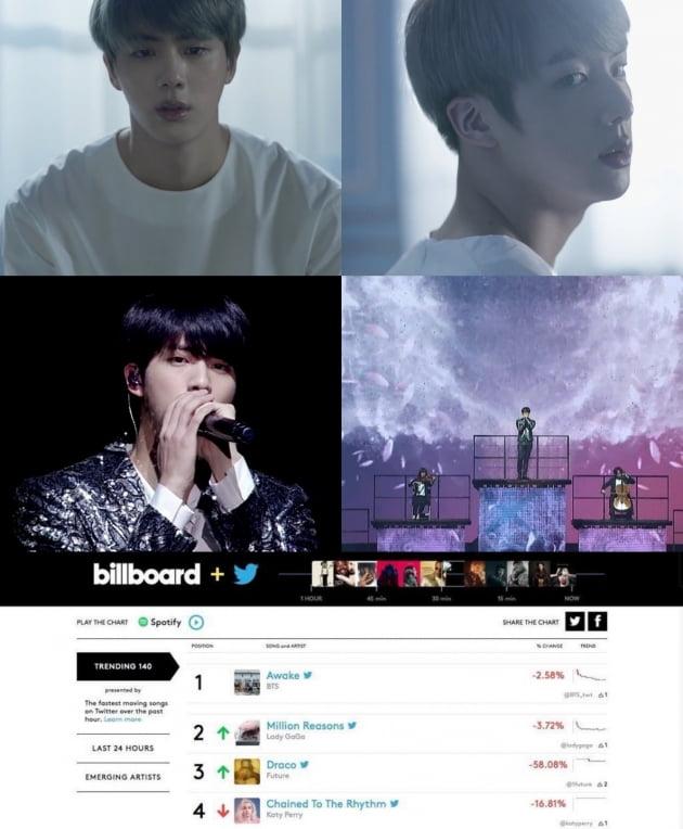 방탄소년단 진, 어웨이크 5주년 전세계 팬들 축하 세례