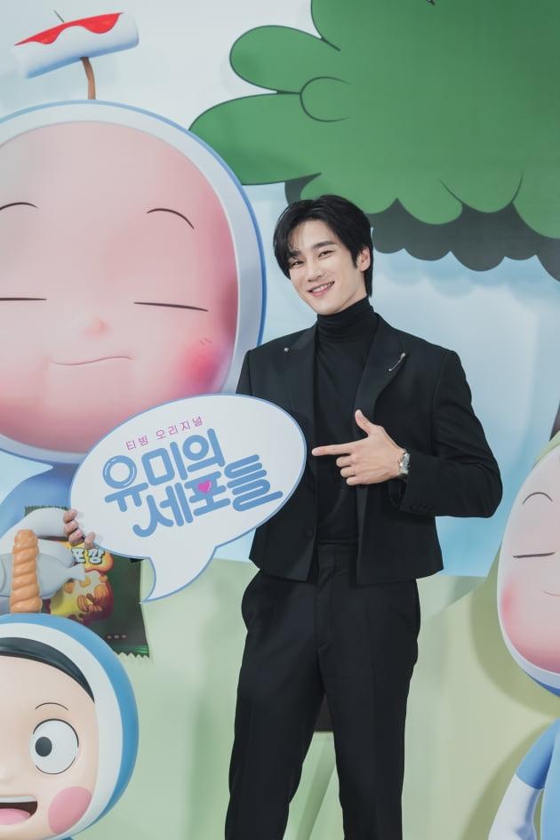 배우 안보현이 14일 오후 온라인 생중계된 티빙 오리지널 '유미의 세포들' 제작발표회에 참석했다. /사진제공=티빙
