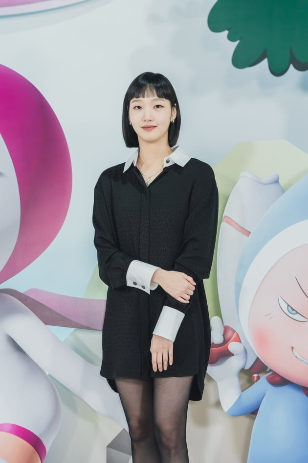 배우 김고은이 14일 오후 온라인 생중계된 티빙 오리지널 '유미의 세포들' 제작발표회에 참석했다. /사진제공=티빙