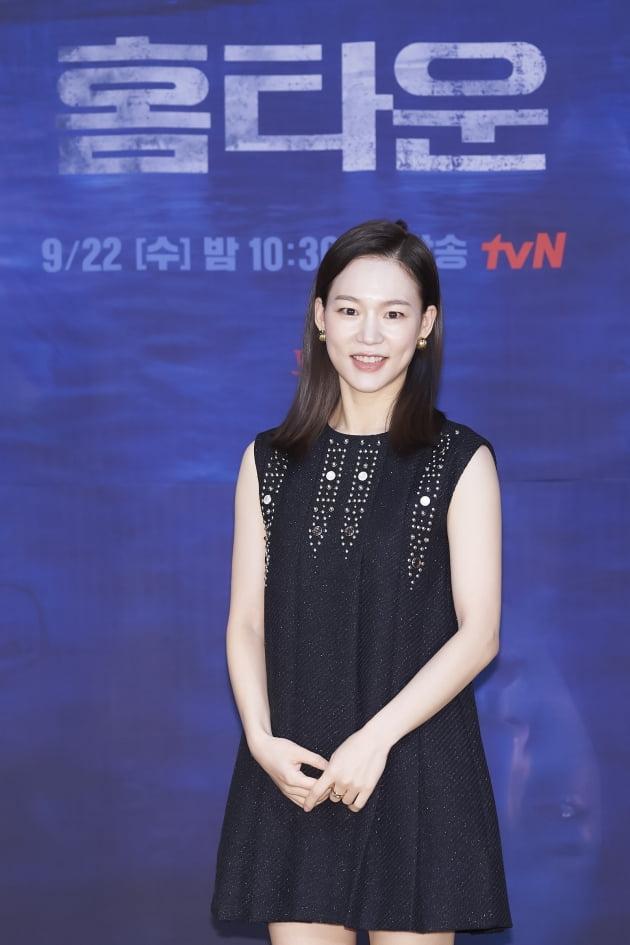 배우 한예리가 15일 오후 온라인 생중계된 tvN 새 수목드라마 '홈타운' 제작발표회에 참석했다. /사진제공=tvN