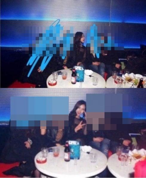 배우 고민시의 과거 미성년자 시절 음주 현장/ 사진=온라인 커뮤니티 캡처